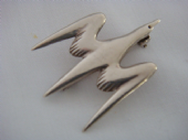 Vintage Ola Gorie Brooch - Sterling Silver Seagull Pin - 1970s Gull Brooch  (SOLD)